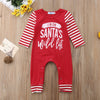 "Image of ""I'm on santa's wild list"" Romper"