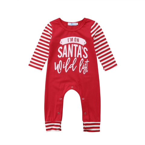 """I'm on santa's wild list"" Romper"