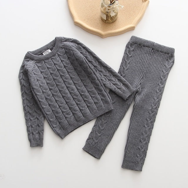 Molly Knitted Sweater + Pants Set