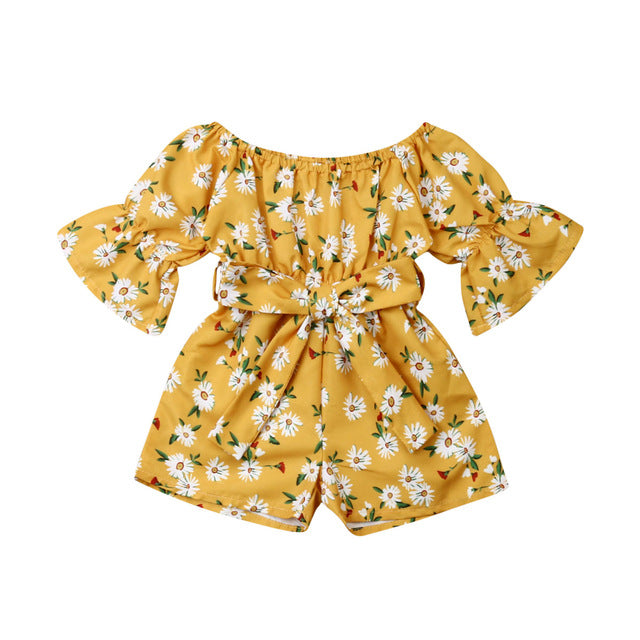 Heavenly Romper - Yellow Daisy