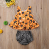 Image of GIRLS HALLOWEEN PEPLUM TOP AND BLOOMERS