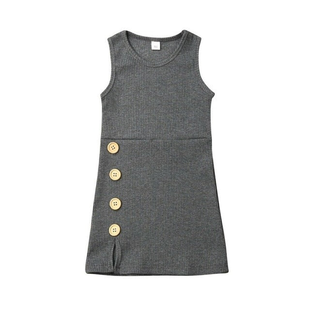 KARLEY BIG BUTTON DRESS