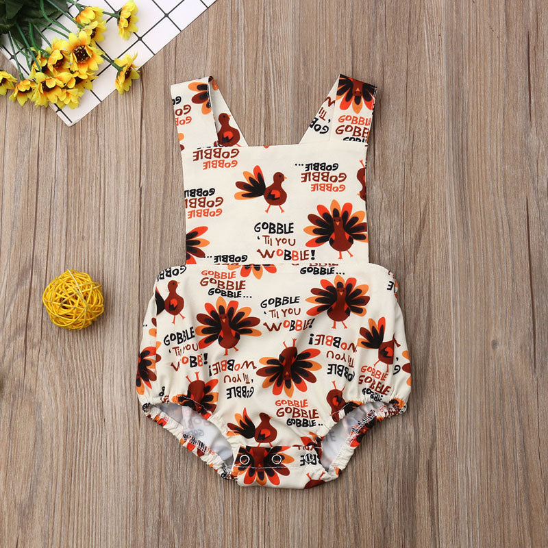 Gobble Til You Wobble Romper