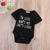"Image of ""I'm cute, moms hot, dads lucky"" onesie"