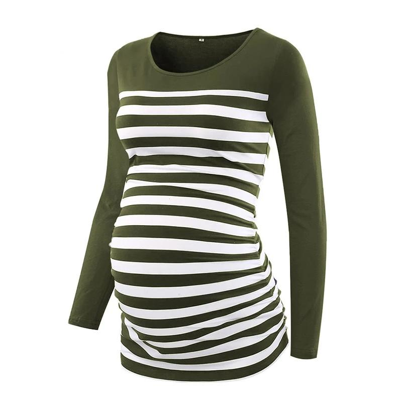 Long Sleeve Tee - Army Stripe