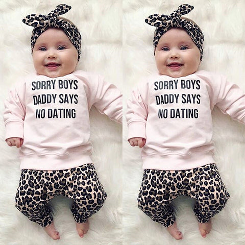 """Sorry Boys Daddy Says No Dating"" Set"