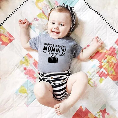 """Happy Brithday Mommy"" Romper"