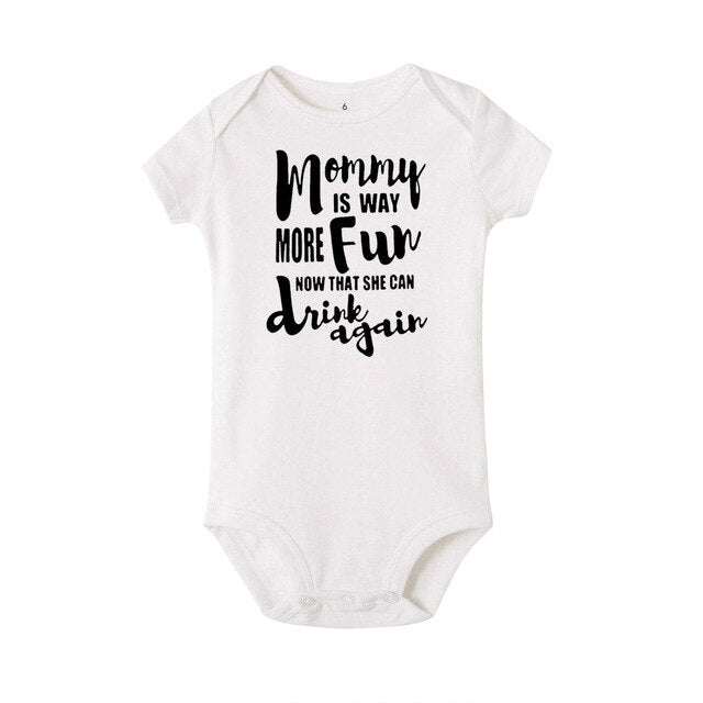 """Mommy Is Way More Fun Now"" Romper"