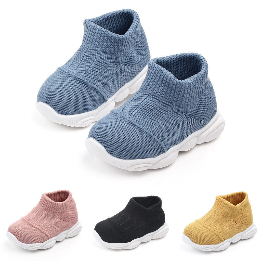 Baby / Toddler Fashionable Solid Flyknit Prewalker Athletic Shoes