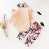 Image of 3PCS Floral Baby Girl