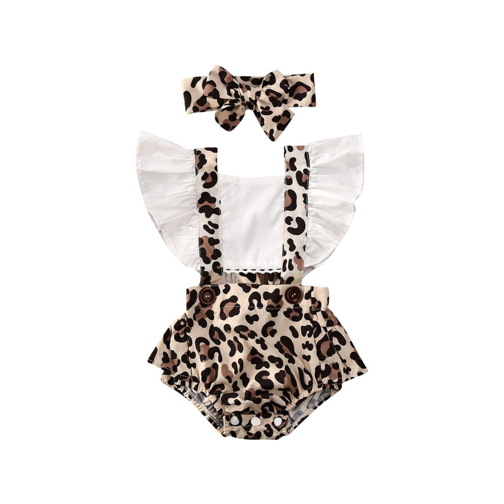 Frilly Leopard Romper Set
