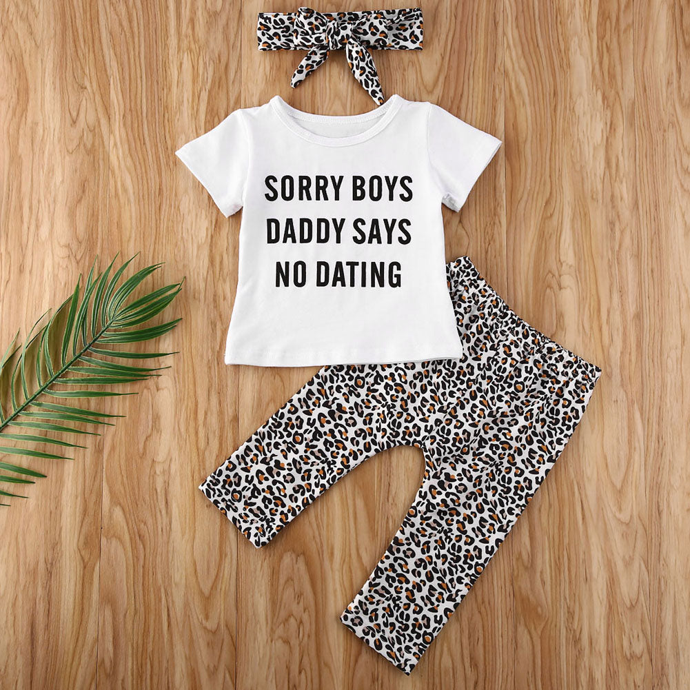 Daddy Says Leopard Set (3-24 Months)