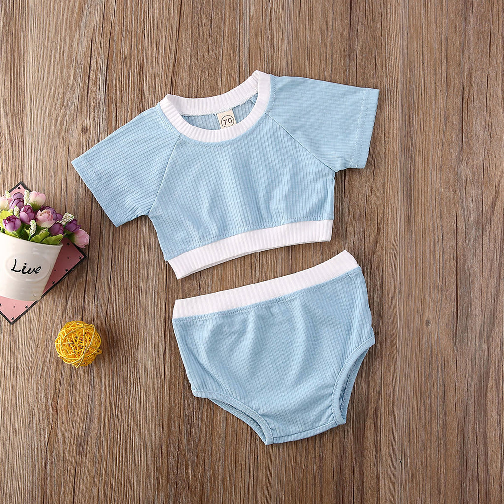 Basic Crop Set - Blue