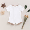 Image of BABY TRIM RIBBED ROMPER