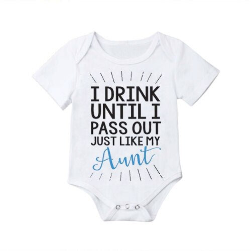 """I drink until I pass out"" Romper"