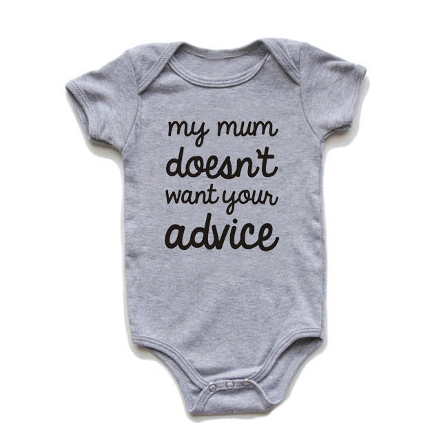 """My Mum Doesn't Want Your Advice"" Romper"
