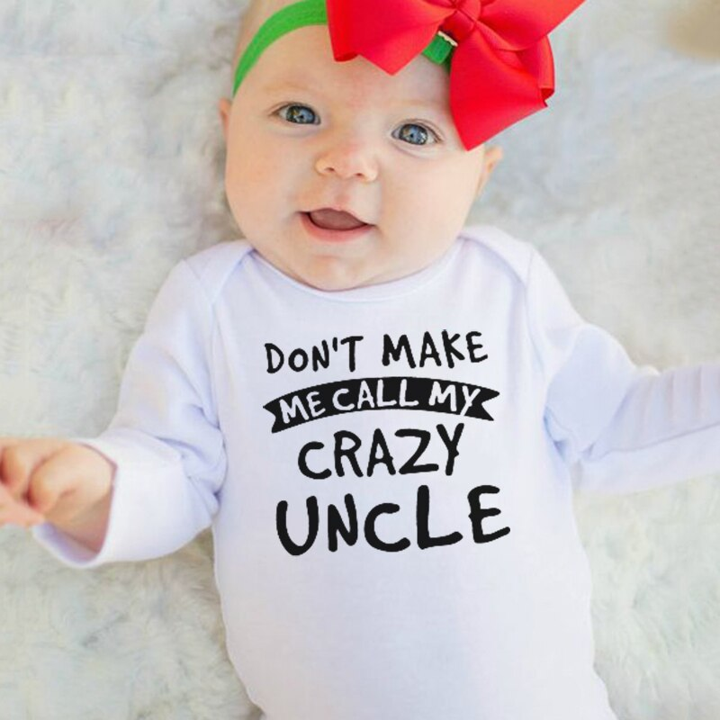 """Don't Make Me Call My Crazy Uncle"" Romper"