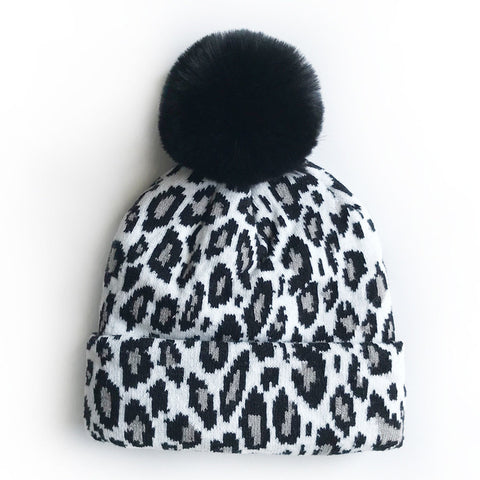 Leopard Beanies Mummy & Baby Matching | 4 Colors