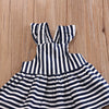 Image of Backless Striped Bow Dress 2pc for Girls