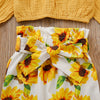 Image of Erika Ruffle Top + Sunflower Pants 3pcs Set