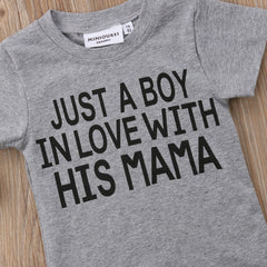 Just A Boy In Love With His Mom T-shirt