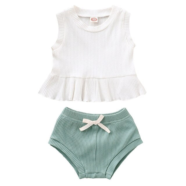 Kiana Set - White Green