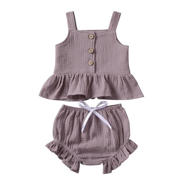 Mable Bloomer Set - Dusty Purple