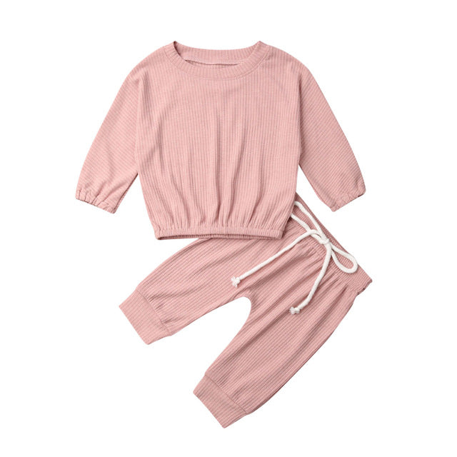 Frankie Cropped Pant Set - Dusty Pink