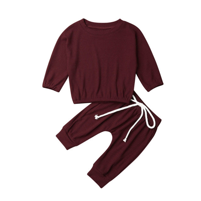 Frankie Cropped Pant Set - Burgundy