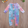 Image of Tie Dye Romper - colorful