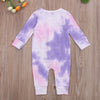 Image of Tie Dye Romper - Purple
