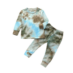 Tie-Dye Set - Sky Blue/Brown