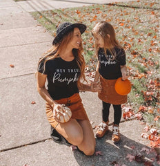 Pumpkin Mommy and Me Matching T-shirt