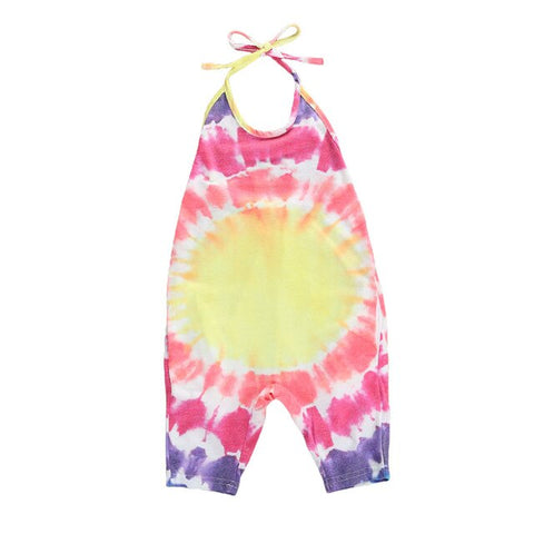 Alice Tie Dye Jumpsuit - Pink/Yellow