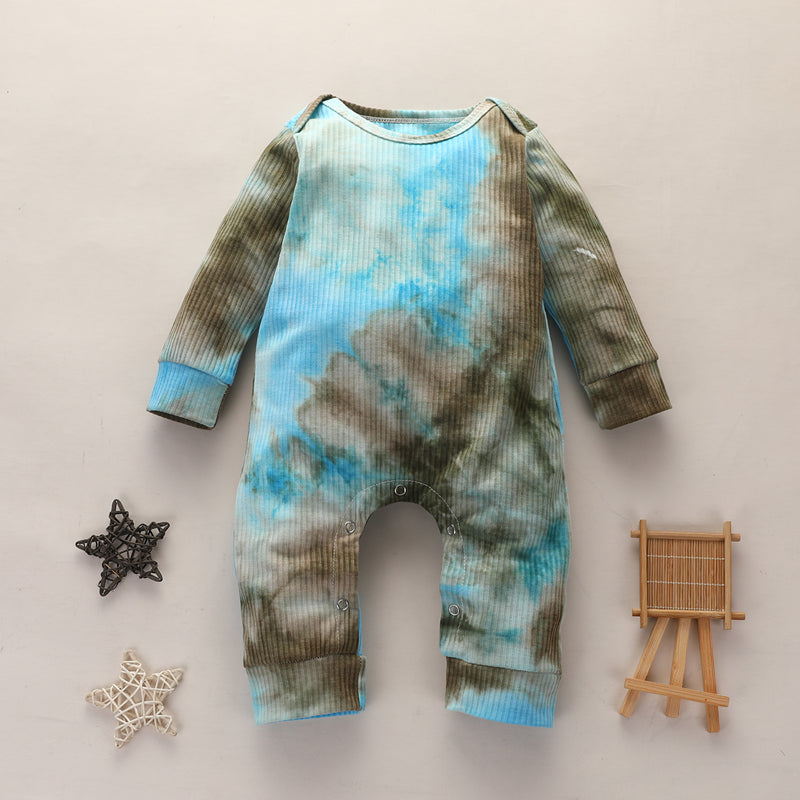 Mia Tie dye Jumpsuit - Brown/Light