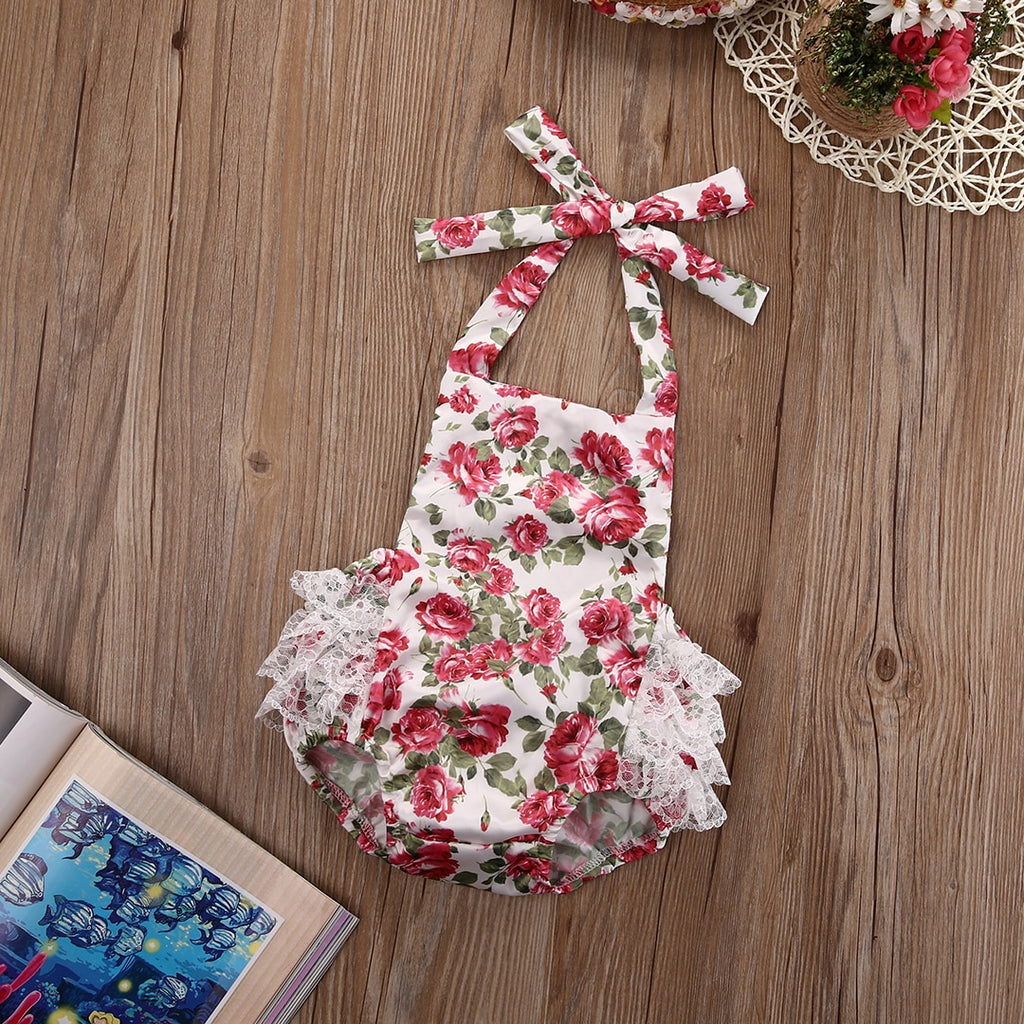 Ruffled Flower Rompers
