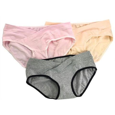 3Pcs/Lot Cotton Maternity Underwear U-Shaped Low Waist Pregnancy Pregnant