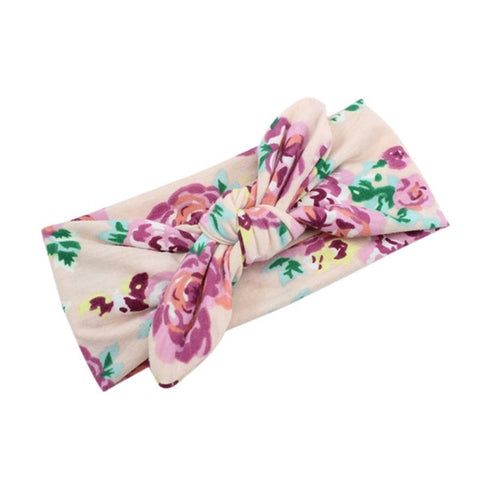 Luxury Soft Retro Baby Headwrap Floral Collection 1