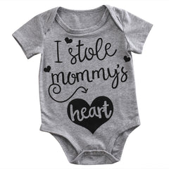 """I Stole Mommy's Heart"" Romper"