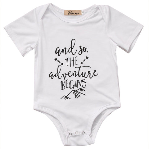 """And So The Adventure BEGINS"" Romper"