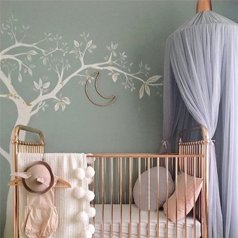 Nursery Canopy -Light Purple/Grey