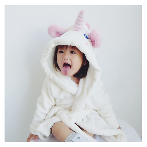 Unicorn Bathrobes For Mom and Kids