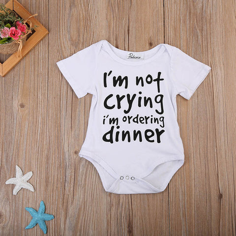 """I'm Not Crying I'm Ordering Dinner"" Romper"