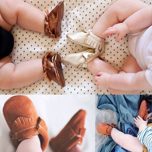 Leather Tassel Flat Shoes