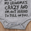 "Image of ""My Grandma's Crazy"" Romper"