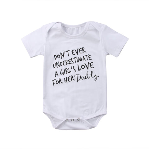 """Don't Ever Underestimate A Girls's Love For Her Daddy"" Romper"