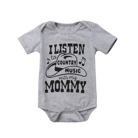 """I listen To Country Music With My Mommy"" Romper"