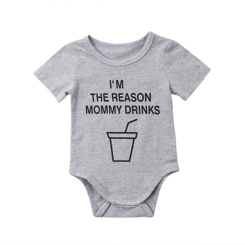 """I'm The Reason Mommy Drinks"" Romper"