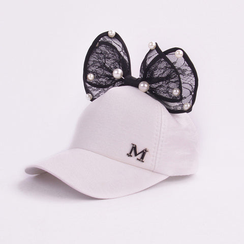 Girls Bow Hat - 3 to 8 Years Old
