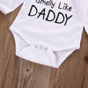 "Image of ""Cute Like Mommy Smelly Like Daddy"" Romper"